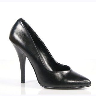 Heel Shoe Womens Dress Shoes Classic Pump Shoes Black Leather Shoes