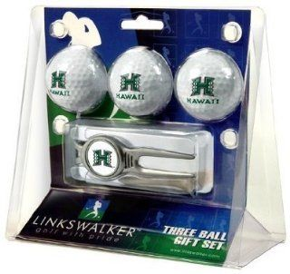 Hawaii Rainbows 3 Golf Ball Gift Pack w/ Kool Tool   NCAA