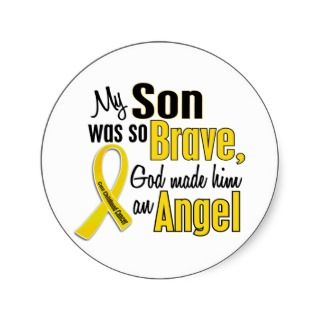Cancer Ribbon Stickers, Childhood Cancer Ribbon Sticker Designs