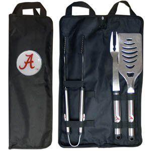 Alabama Crimson Tide Grill BBQ Set w/Bag Sports