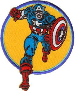 Marvel Comics Captain America Run Iron On Patch P3350