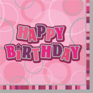 16 Serviette de table Happy Birthday   Rayonnantes et pleines de peps