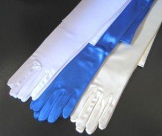23 Satin White Opera Gloves Clothing