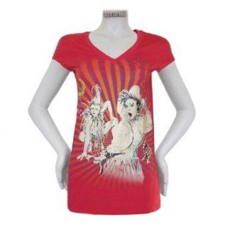 Cirque du Soleil women white clown red t shirt   L