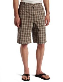 Timberland Mens Yarn Dye Plaid Short, Haze Grey, 36W