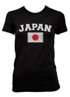 (Cybertela) Japan Flag Junior Girls T shirt Country Pride