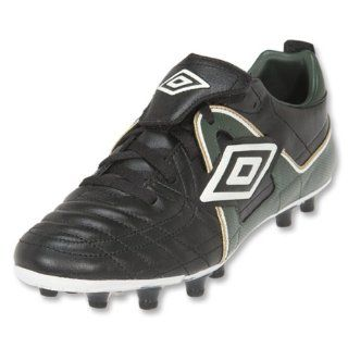 Trophy HG Soccer Shoes (Black/British Racing Green/Gold) Shoes
