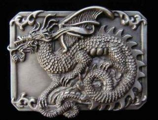 Medieval Dragon Belt Buckle Clothing