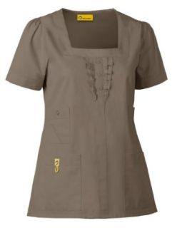 Wink Four Pocket Ruffle Neck Top Scrub Top Clothing
