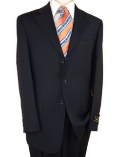 Dark Navy, Suits Italian Merino Wool 150s Hand Tailored