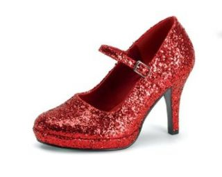 Womens Sexy High Heel Shoes 4 Inch Shoe Red Ruby Slippers