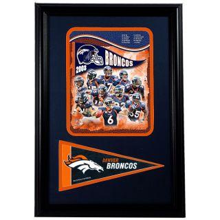Denver Broncos 2008 Team 12x18 Framed Print with Pennant