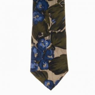 Cellini Mens Paisley 100% Silk Neck Tie Olive One Size