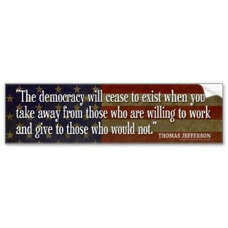 Bumper Sticker   Founding Father Quote