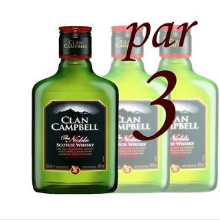 Clan Campbell 20cl (Pack de 3 bouteilles)   Achat / Vente Clan