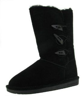 BEARPAW Womens Sarah II Boot,Black,5 M US Shoes