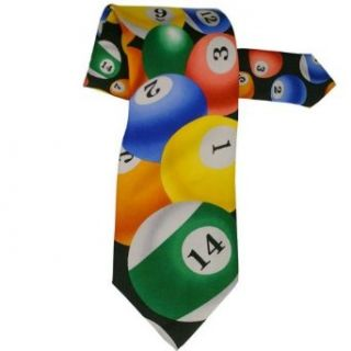 Billards All Over Neck Tie Clothing