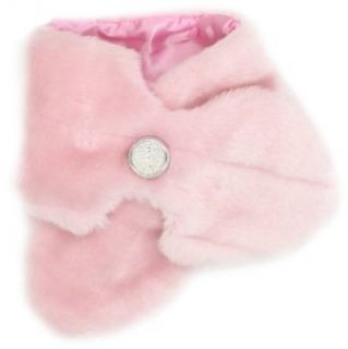 Mud Pie Baby girls Infant Faux Fur Scarfette, Pink, One