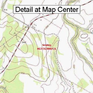 USGS Topographic Quadrangle Map   Smiley, Texas (Folded