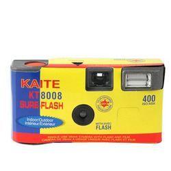 Appareil photo jetable couleur 27 poses(24+3) 400 ASA+ flashUn moyen