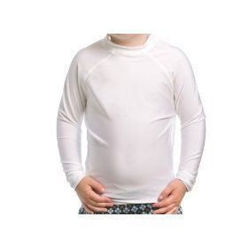 Toddler SPF 50+ White Long Sleeve Rash Guard Clothing