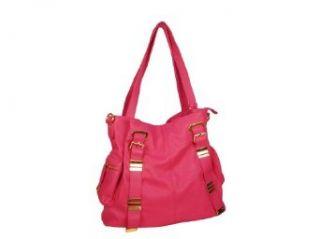 Pink Shoulder Tote Bag W/ Gold Hardware & Detachable Strap