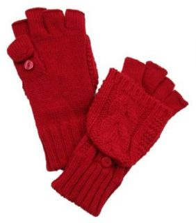 Isotoner Womens Soft Knit Convertible Fingerless Gloves