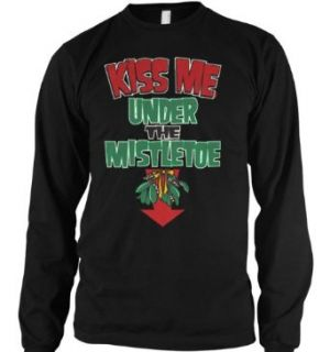 Kiss Me Under The Mistletoe Thermal Shirt, Funny Mens