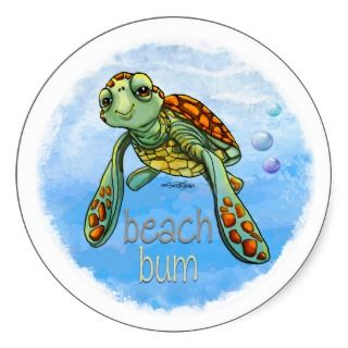Cute Sea turtle stickers