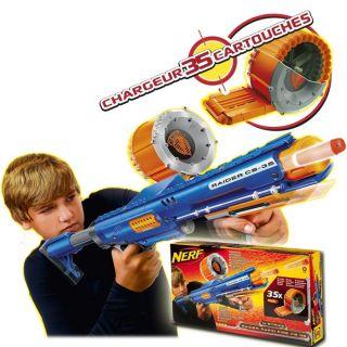 Hasbro   Nerf   Pistolet à pompe avec chargeur 35 cartouches   Crosse