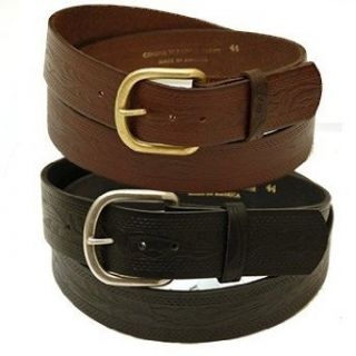 Extra Wide Tooled Western Leather Belt   MADE IN USA