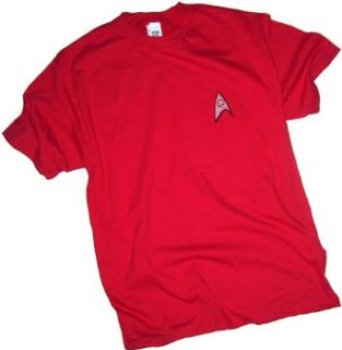 Star Trek Engineering & Security Red Uniform T Shirt