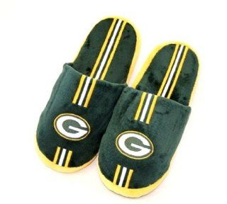Green Bay Packers Mens Slippers House Shoes: Sports & Outdoors