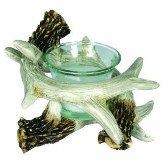 Rivers Edge Deer Antler Candle Holder, Brown: Sports