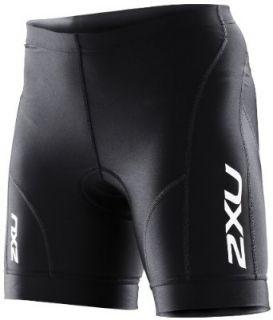 2XU Womens Endurance Cycle Shorts, Black/Black, X Small