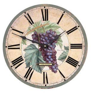 Latin Botanical Grapes 13 inch Wall Clock