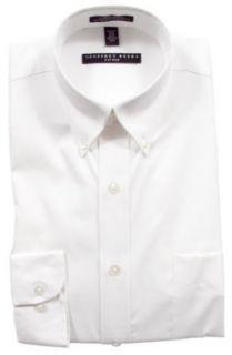 Geoffrey Beene Fitted Dress Shirt White (Button Down