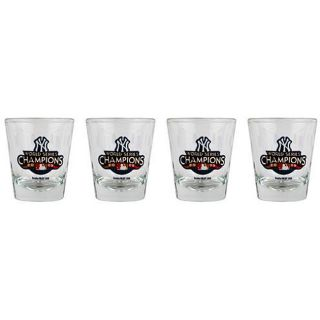 MLB 2009 NY Yankees World Series Champions Shot Glass (Pack of 4