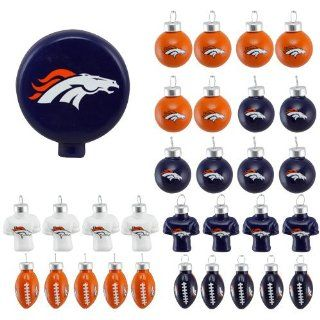 DENVER BRONCOS OFFICIAL LOGO BLOWN GLASS CHRISTMAS