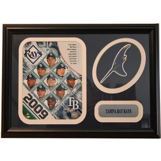 2009 Tampa Bay Rays Team Patch Frame