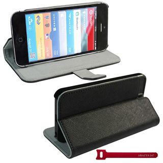 Abacus24 7 iPhone 5 Black Protective Case Cover Stand