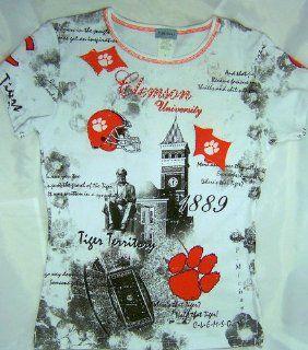 Clemson University Womens Fancy T Shirt Tigers Size Small