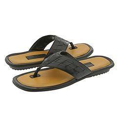 Tommy Bahama Cannes Black Leather Sandals