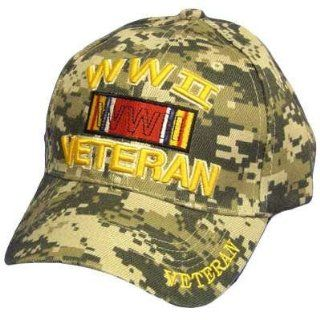 WWII WORLD WAR II 2 TWO VETERAN DIGITAL CAMO CAP HAT