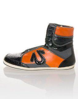 True Religion Mens Mack High Top Sneakers (Black/Orange/Grey) Shoes
