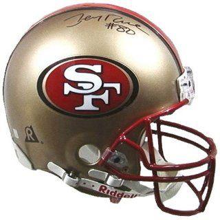 49ers Mounted Memories Autographed Pro Helmet ( Rice