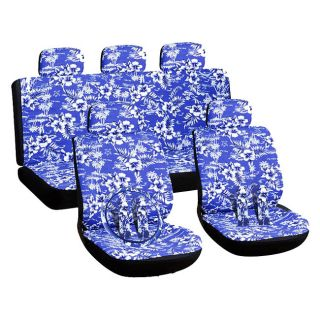 Hawaiian Blue 16 piece Car Seat Cover Automotive Set