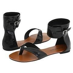 Madden Girl Dena Black Snake Sandals