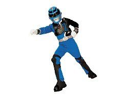 SPD Blue Power Ranger Costume Med 7 8: Clothing