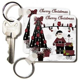 RAB Rockabilly Cherry Christmas Santa Tree Lights   Set Of